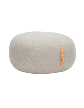 Pouf Light grey ø75 x 35cm