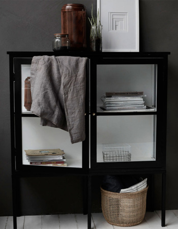Kabinet Fox black small 40 x 120 x 135