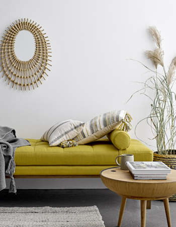 Lenoška Cita Daybed Yellow