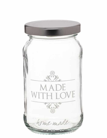"Sklenice ""Made with love"" 454 ml - 3 ks"