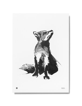 "Print aquarelle ""Fox"""