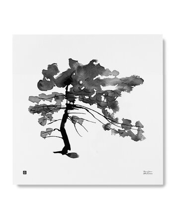 "Print aquarelle ""Pine Tree"""