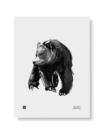 "Print aquarelle ""Gentle Bear"""